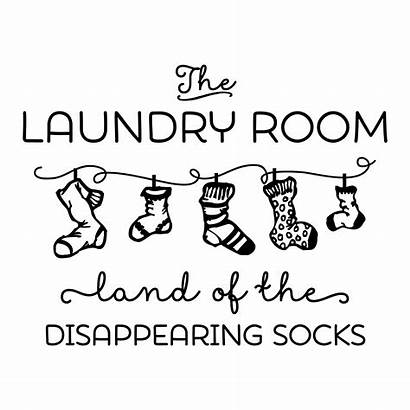 Wall Quotes Disappearing Decal Land Laundry Socks