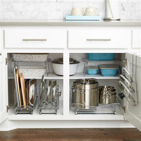 Pull Out Shelf   Lynk Chrome Pull Out Cabinet Drawers