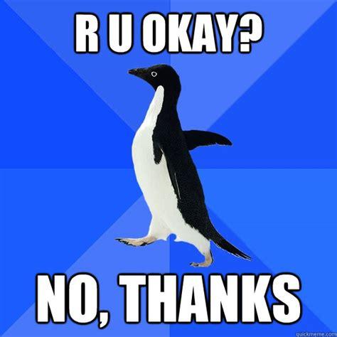U Ok Meme - r u okay no thanks misc quickmeme