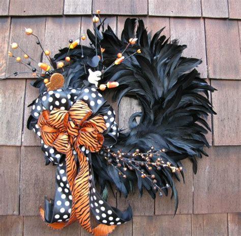 pinterest picks modern halloween wreaths feather