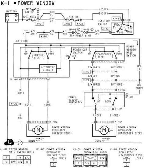 Mazda Power Window Wiring Diagram All About
