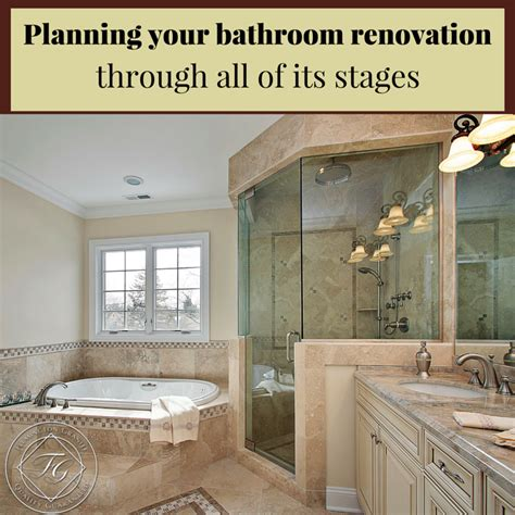 planning your bathroom renovation through all of its