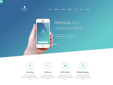 html mobile app landing page templates bashooka