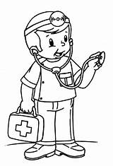 Doctor Nurse Pages Coloring Printable Kid sketch template