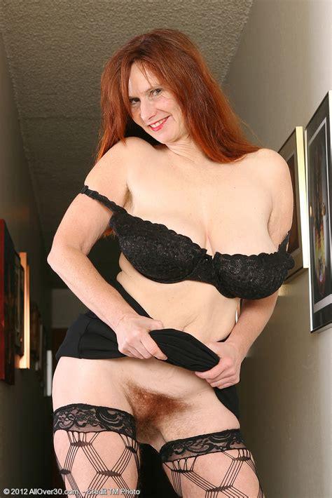 Redhead MILF Breeze Flaunt Her Hairy Minge MILF Fox
