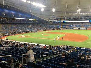 Rays Seating Chart Tropicana Field Section 122 Tampa Bay Rays