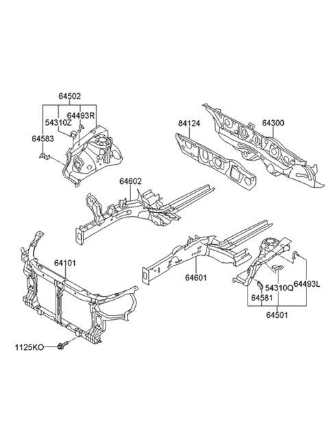 2011 Hyundai Sonata Hybrid Fender Apron & Radiator Support