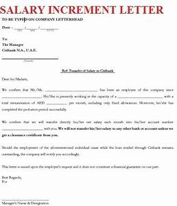 Salary Increment Letter Format Of Salary Increase The Letter Sample