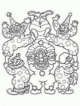 Coloring Pages Clown Circus Clowns Printable Scary Print Comments Coloring2print sketch template
