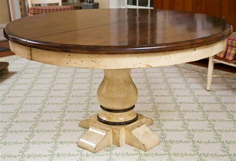 Pedestal Round Extension Dining Table At 1stdibs