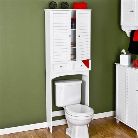 White Over The Toilet Cabinet Newsonairorg