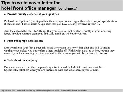 cover letter for front desk officer hotel front office manager cover letter