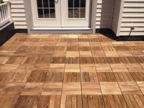 Wood Tile Decking by Image Gallery Deck Tiles
