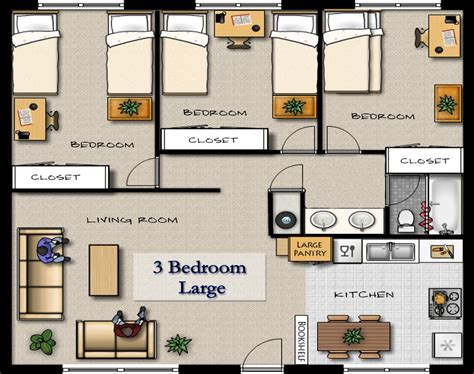 Great One Bedroom Apartment Plans And Designs