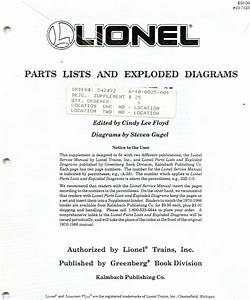 Lionel Parts Lists And Exploded Diagrams Supplement 25
