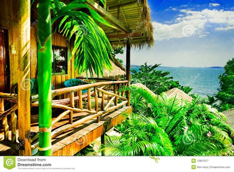 tropical bungalow stock image image  tropic home