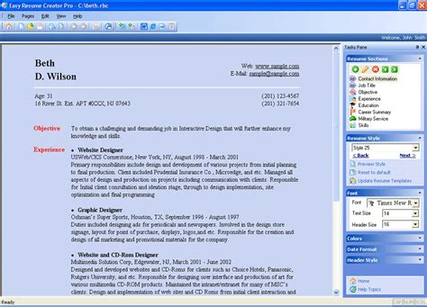 Resume Creator Reviews by Easy Resume Creator Pro 4 23 38 Review And