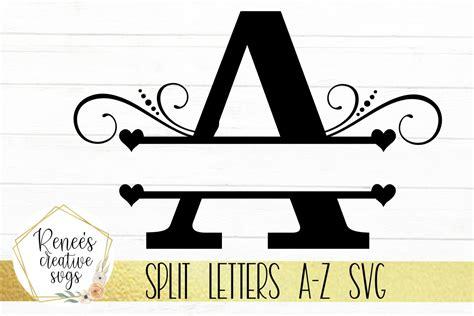 split letters split monogram letters svg cutting file  svgs design bundles