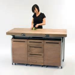 kitchen island tables with storage expandable dining table doubles as compact kitchen island