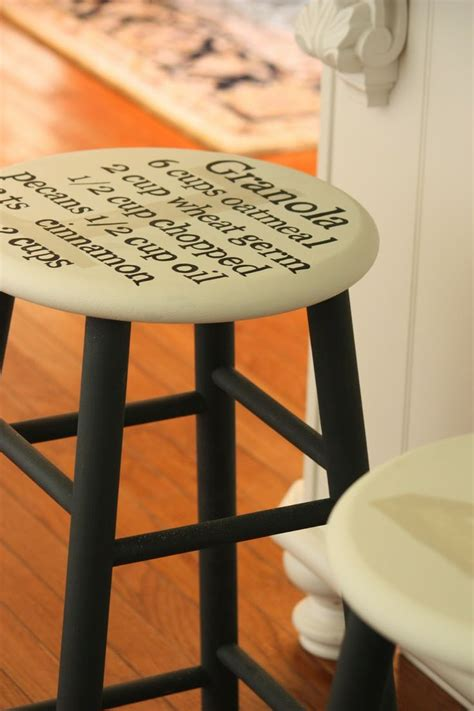 bar stool ideas painting a recipe on a bar stool home sweet sweet home ideas pint