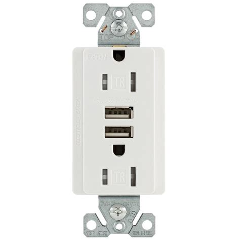 hotel ls with outlets and usb eaton 15 amp 125 volt combination outlet and 2 usb 3 1 amp