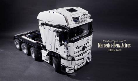 lego mercedes moc mercedes actros 8x4 tractor lego technic