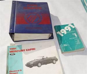 Find 1991 Mercury Capri Oem Service Shop Manual   Wiring