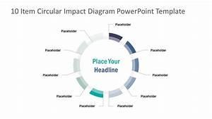 10 Items Circular Diagram Impact Powerpoint