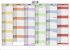 Kostenlose kalendervorlagen 2018 office lernencom for Halbjahreskalender