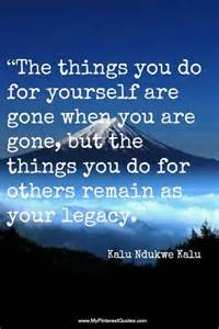 Quotes About Your Legacy
