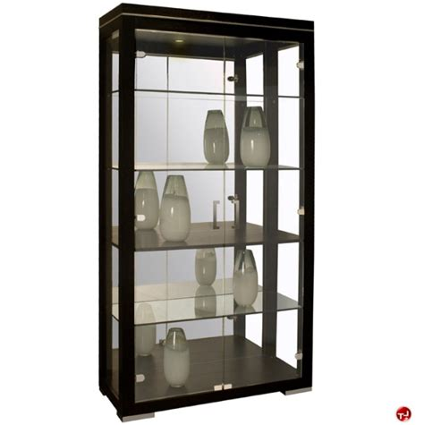 Contemporary Glass Display Cabinet by The Office Leader Cox Contemporary Glass Door Display Cabinet