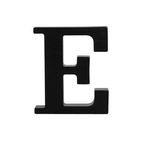 letter e wooden letter e black