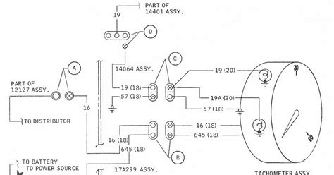 Wiring Diagram For Tachometer by Tachometer Wiring Diagram For 1968 Ford Mustang All