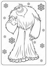 Coloring Yeti Bigfoot Printable Cartoon Drawing Outline Printables Smallfoot Drawings Sketches Fun Popular Crafts Boys sketch template