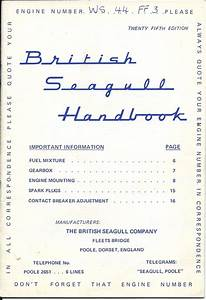 Seagull Outboard Owners Manual  1973