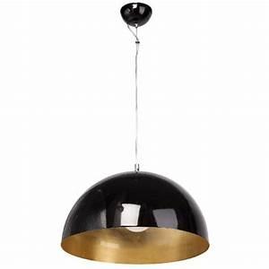 Suspension Noir Et Cuivre : suspension ronde m tal noir et cuivre luminaires ~ Melissatoandfro.com Idées de Décoration
