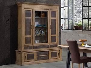 Vaisselier Chene Massif : vaisselier vintage ganse en ch ne massif meubles bois massif ~ Teatrodelosmanantiales.com Idées de Décoration