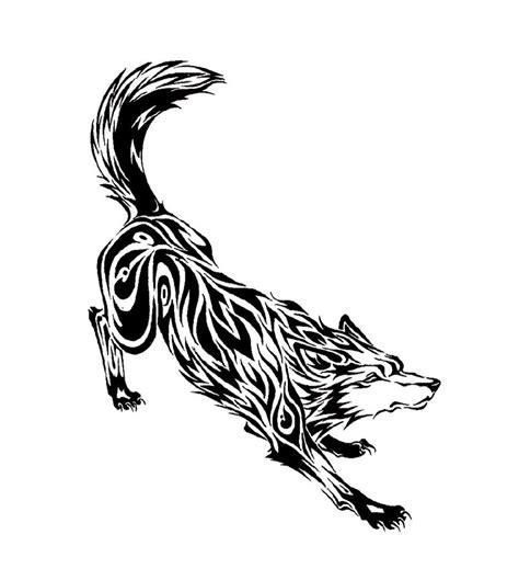 vintage tattoos galleries tribal wolf tattoo