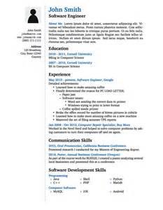 simple job resume template free winning resume template