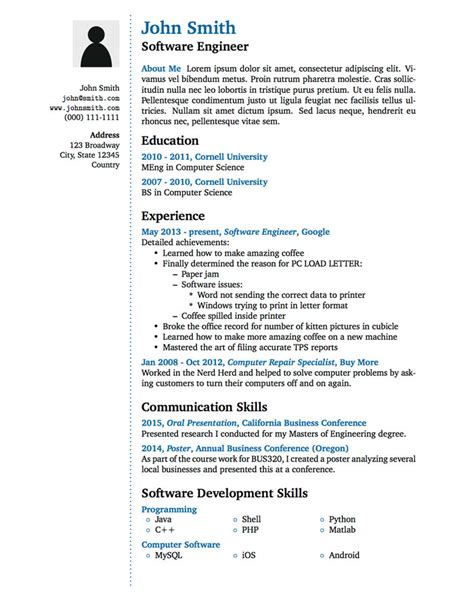 An Exle Of A Written Cv by Cv In Tabular Form 18 Tabular Resume Format Templates