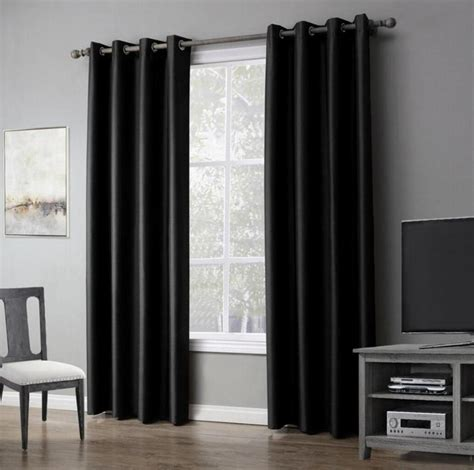 1 Piece Solid Color Window Curtains For Living Room