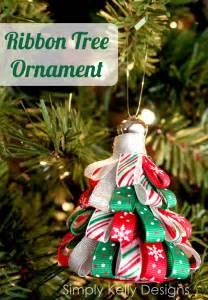 ribbon tree ornament sew woodsy