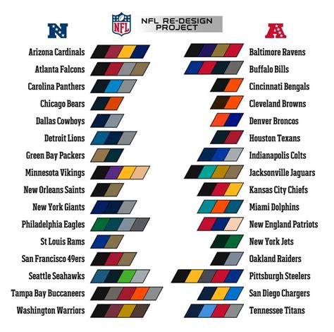 nfl team colors search football