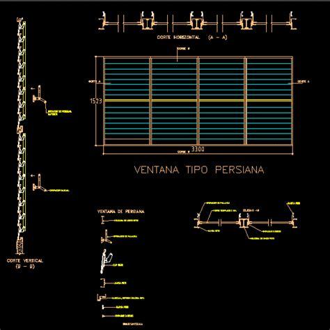 Persiana Dwg persianas en autocad descargar cad 67 58 kb bibliocad