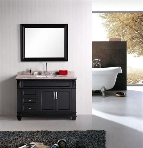 design element hudson 48 quot espresso single sink vanity set