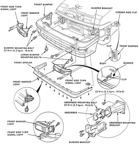 Acura Legend Motor Mount Diagram by Repair Guides Exterior Bumpers Autozone