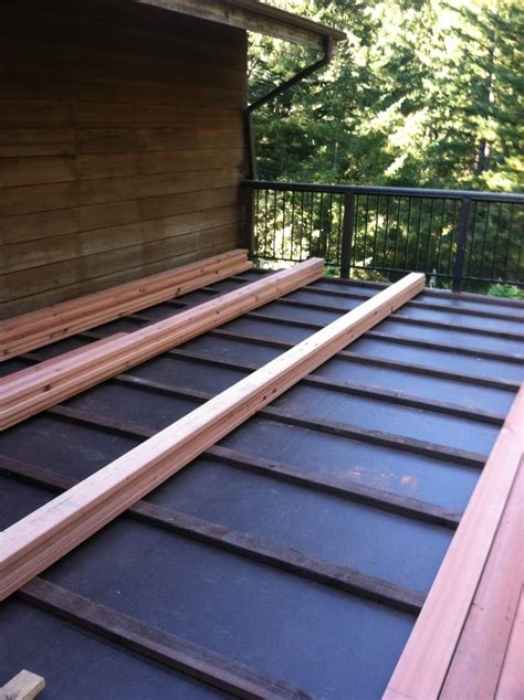 Ib Waterproof Membrane With 2x4 Pt Sleepers And 2x6