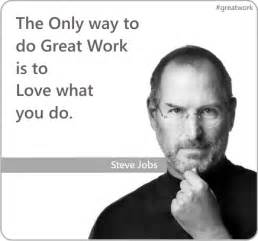 Steve Jobs Great Work Quote