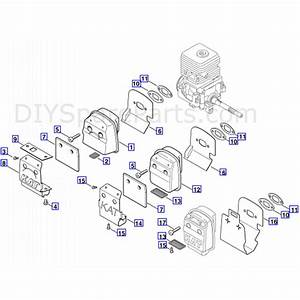 Stihl Fs 55 Brushcutter  Fs55  Parts Diagram  Muffler Cat