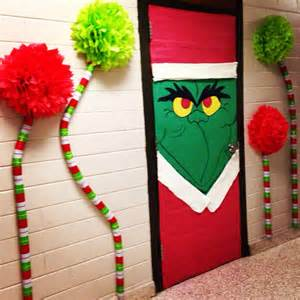 the grinch classroom door do this on my principal s office door this december book